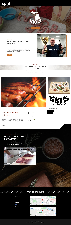 skis sausage custom website